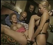 Strap-on fucking during a wild Italian orgy