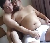 Chubby old daddies making a mature gay fucking session