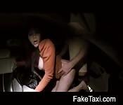 Black cab driver bangs passenger at night