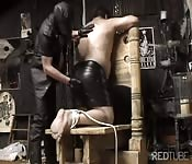 BDSM of a chubby gay stud