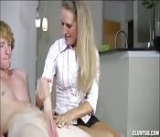 Big cock amazing handjob