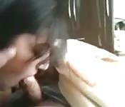 Telugu girlfriend gives head