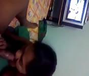 Mature Indian Woman blowjob POV