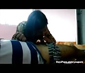 Amateur Indian girlfriend is easy to talk into a blowjob