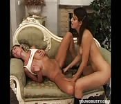 Sensual teen enjoying mind-blowing lesbian sex