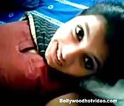 Pretty teen Indian girl get laid in homemade