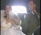 Horny Bride Fucked In The Car
