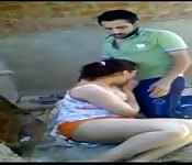 Egyptian couple enjoy each other