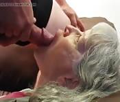 Face fucking granny
