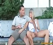 Polish couple in public