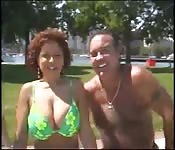 Threesome with crazy matures