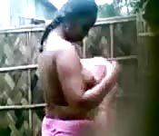 Indian wife caught bathing by hidden camera