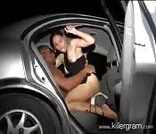 Ebony back seat whore