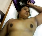 Indian wife is resting but he wants a good fuck time