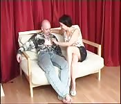 Mature mom and paled white son