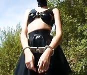 Sex slave fucking outside