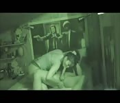 Can with night vision captures cheating wife fucking