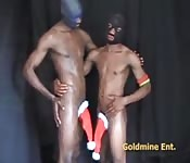 Masked ebony studs get a little kinky
