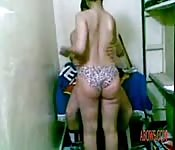 Tamil girl bending over