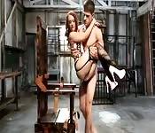 Hot babe BDSM fucking