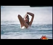 Playful bollywood skinny dip