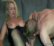Horniest blonde mom and her son