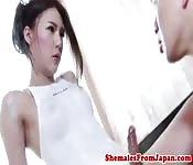 Hot Japanese ladyboy fucking a dude