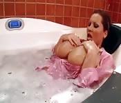 Busty milf wet in the bath