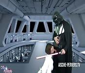 Darth Vader fucks Leia ass