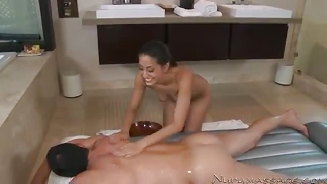 Full oil massage for boyfriend and his super hot chick