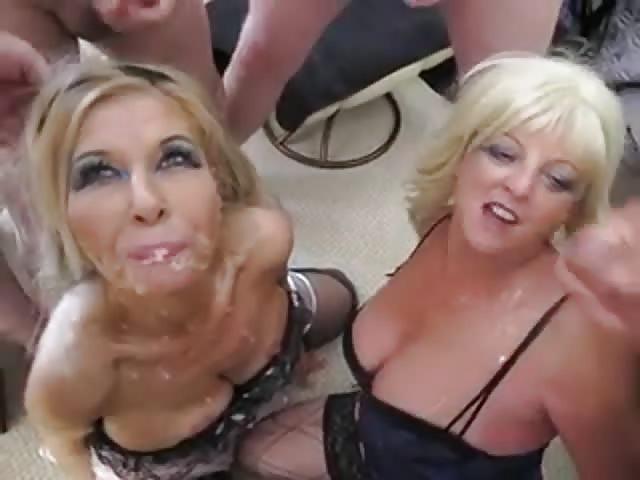 Mature women bukkake videos