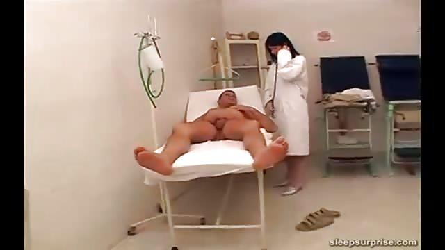 Sleeping Nurse Gets Cock