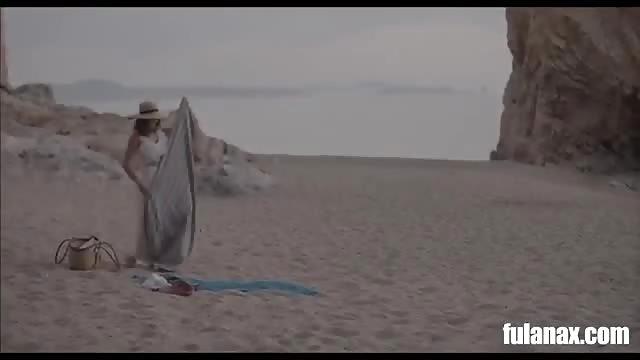 figa nera in spiaggia