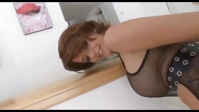 Busty Mom gets a huge black cock in her ass