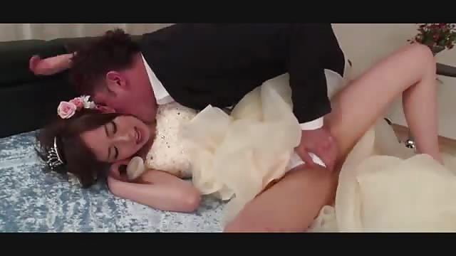 Asian fucks another man on her wedding day