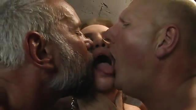 Randy uniform guys fucking in threesome