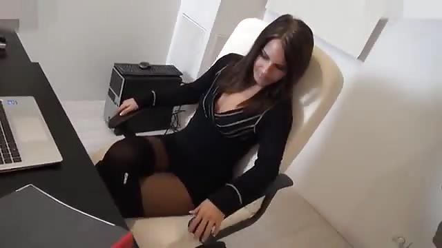 Woman tries to hide orgasm