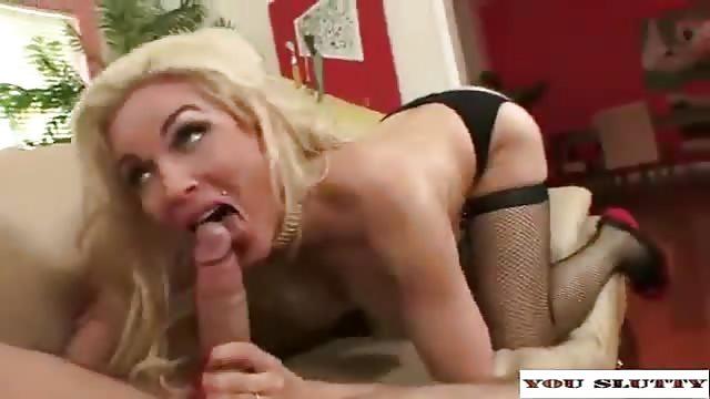 Big titted blonde milf stuffed