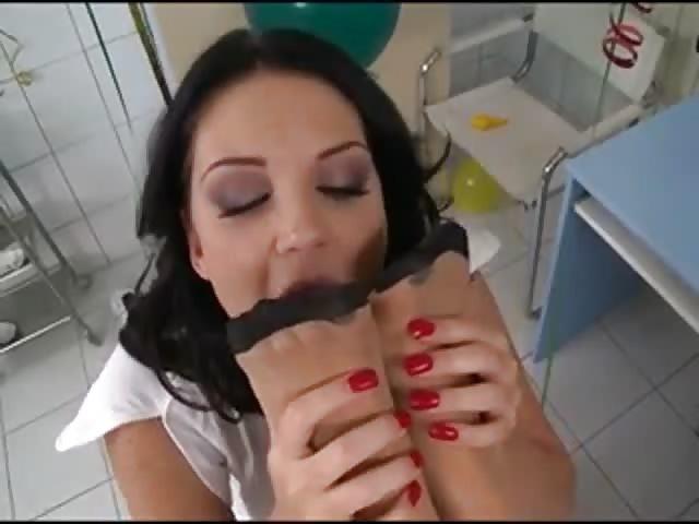 Lesbian foot sex video
