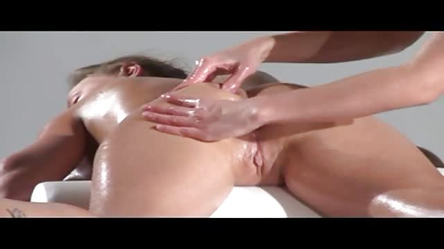 When sensual massaging leads to sweet orgasm